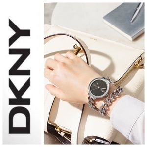 DKNY Double wrap Chain Bracelet Watch